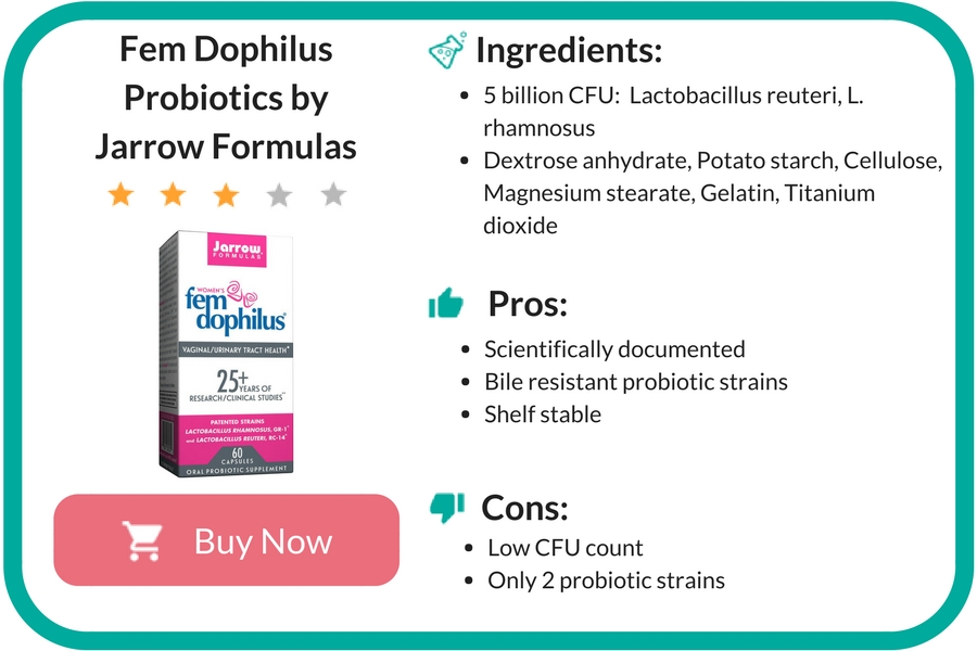 Fem Dophilus Probiotics by Jarrow Formulas Review